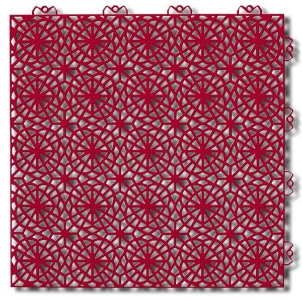 Piastrelle componibile da esterno XL Hot red 9460